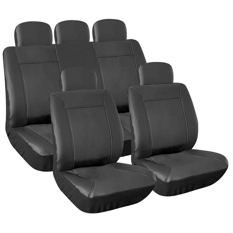 housses de si ge auto taille universelle en simili cuir. Black Bedroom Furniture Sets. Home Design Ideas
